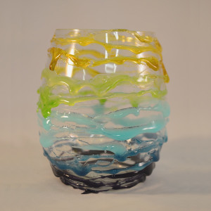 Multicolored Wire Glass