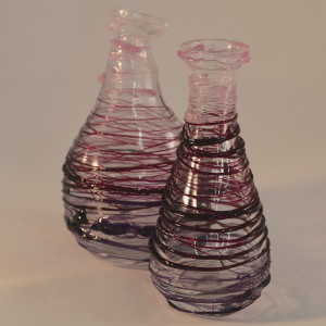 Purple Wire Glass Flasks
